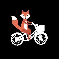 Fuchs Fahrrad - Geschenk Idee