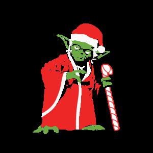 Meister Yoda im Weihnachtsmann Kostüm