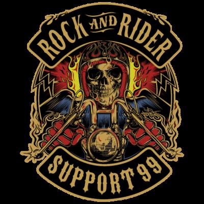 Rock- und Reiterunterstützung 99 -  - Skull,Rock,Motor,Mc