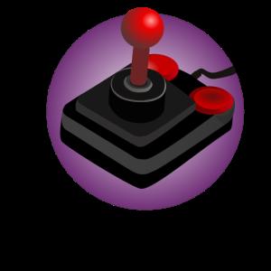 Retroshirt - Joystick 90er - lila