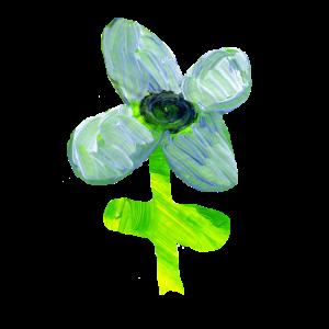 Blumen T-shirt handgemaltes Design