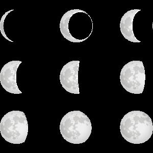 Mondphasen Mond Astronomie Astrophysik Geschenk