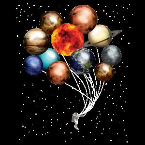 Milchstraße Planeten als Ballon T-Shirt