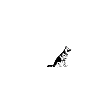 Ein deutscher Schaeferhund