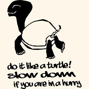 Mach es wie eine Schildkröte