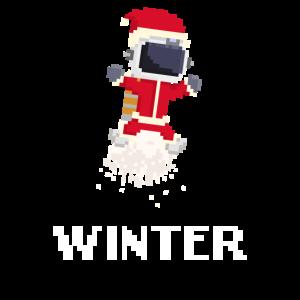 Winter Astronaut Pixel