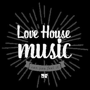 Print Design Love House Music - tolles Design