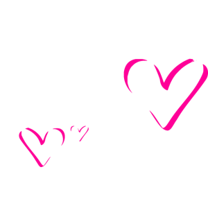 Glitzer Herzen Pink Personalisierbar