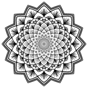 mandala handgezeichnet schwarz