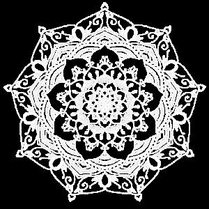 mandala handgezeichnet blume weiss