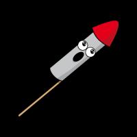 lustige Silvester Rakete