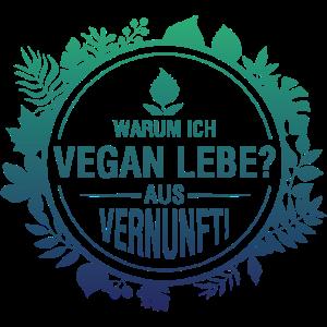 Vegan Leben Shirt · Vernunft · Veganer Geschenk