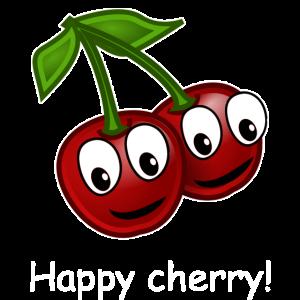 Happy cherry, lachende Kirsche, lustiges Obst