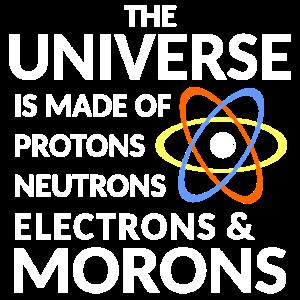 Das Universum besteht aus Protonen-Neutronenelektronen