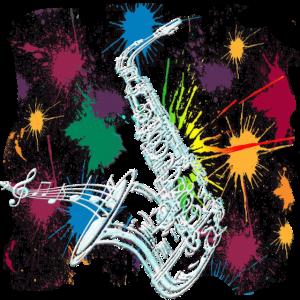 Saxophon Spieler Artistik Grafik Saxophonist