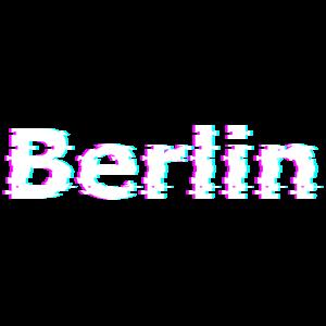 Berlin Schriftzug, Glitch Effekt
