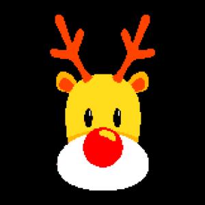Süßes Rentier Logo im Pixel design