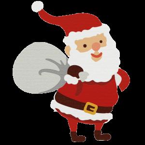 Ein Weihnachtsmann im Papier design