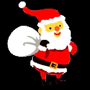 Der Weihnachtsmann im Pixel design