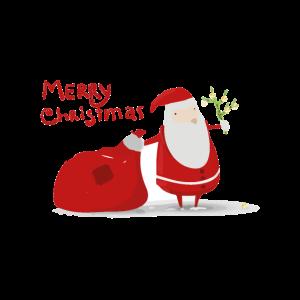 Merry Christmasillustrierter Weihnachtsmann