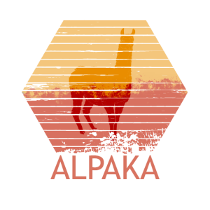 Alpaka Retro Vintage Look | Geschenkidee Tier