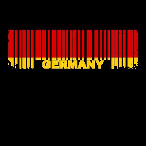 Barcode Flagge Deutschland verwaschen