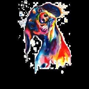 Hund Aquarell Bunt