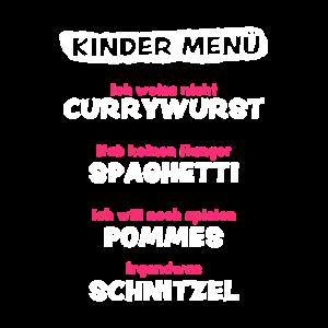 Kindermenü Kindermund Kind Kinder Essen Girlsshirt