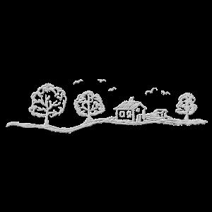 Landschaft hellgrau