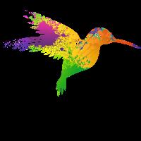 Kolibri Vogel Bunt Künstlerisch Geschenkidee