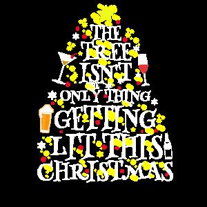 Getting Lit Weihnachten Saufen Alkohol Geschenk
