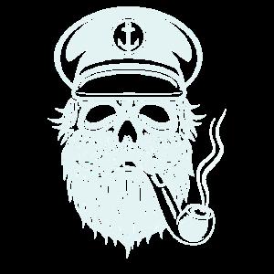 Totenkopf Kapitän Captain Skull Seefahrer Geschenk