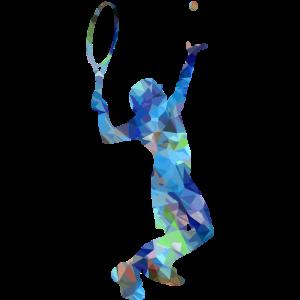 Tennisspieler Aufschlag Blau! Cool, Geschenk, Idee