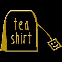 Tea Shirt in Gold als Geschenkidee für Tee-Trinker