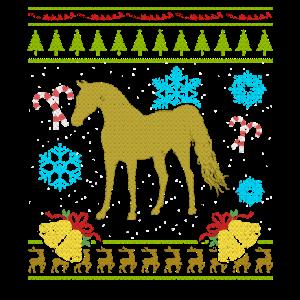 Lusitania Horse Shirt Hässliche Weihnachtsstrickjacken