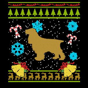 Hässliches Weihnachtshemd englisches Cockerspaniel-Hemd