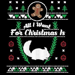 Pet Chinchilla Christmas Hässliches Hemd