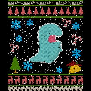 Paläontologe-Dinosaurier-lustiges Weihnachten hässlich