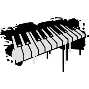 Klaviertasten Graffiti