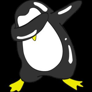 Dabbing Pinguin zu Weihnachten als Geschenk.