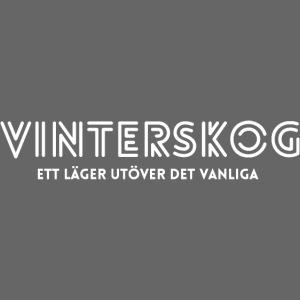 Vinterskog med vitt tryck
