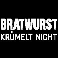 Bratwurst krümelt nicht. Grillwurst.