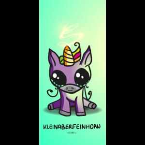 Kleinaberfeinhorn Handyhülle Süß niedlich Unicorn