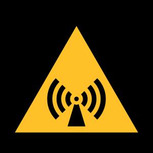 Gefahrensymbol - nicht-ionisierender Strahlung