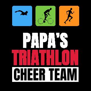 Papas Triathlon Unterstützer Family Cheer
