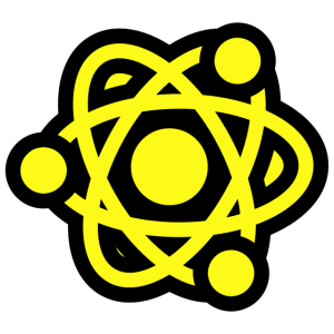 Atom Design Icon - Protons, Neutrons and Electrons