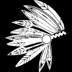 Kopfschmuck eines Häuptlings aus Federn