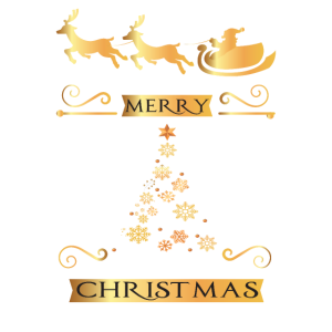 Merry Christmas Frohe Weihnachten Rentier Schnee