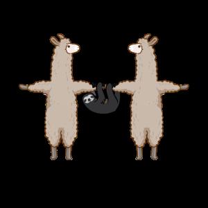 Lama Und Faultier Team | Lustiges Alpaka Gruppe