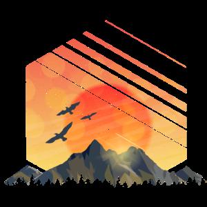 Sonnenaufgang Berge Campen Natur Geschenk Wandern